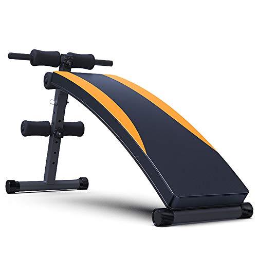 Banco de Pesas Ajustable para Fitness,Carga Máxima 120 Kg Cuero PU Tubo Atrevido No Ocupar Espacio Adecuado para Fitness Banco de Musculacion (Transporte Aéreo)
