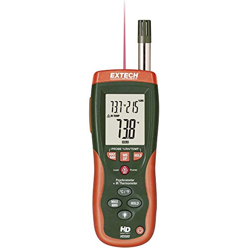 Extech HD-500 Luftfeuchtemessgerät (Hygrometer) 0% rF 100% rF Taupunkt-/Schimmelwarnanzeige