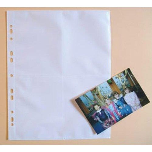 100er Pack Fotohüllen für 8 Fotos im Format 10x15 cm vertikal