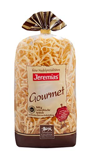 Jeremias Schwäbische Spätzle g.g.A. (geschützte geografische Angabe), Gourmet Frischei-Nudeln (1 x 500 g Beutel)