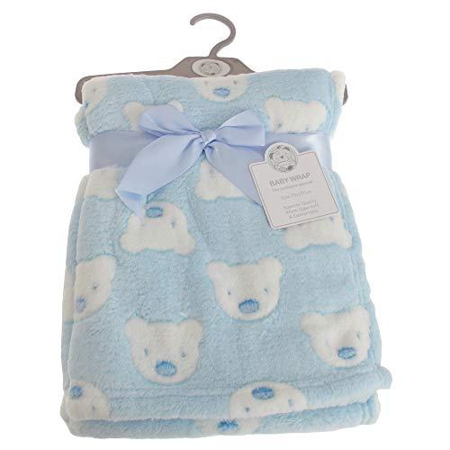 Snuggle Baby - Châle BERA FACE - Bébé (75 cm x 100 cm) (Bleu)