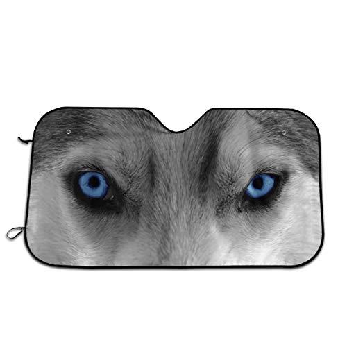 ZHENHUN Windshield Sun Shade, Wolf Angry Eyes UV Reflector Front Window Sunshade Visor Shield Cover and Keep Your Vehicle Cool