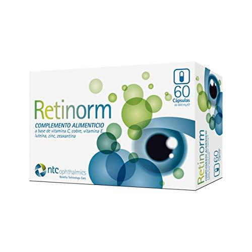 NTC Pharma - RETINORM CÁPSULAS (60). Complemento alimenticio con vitaminas y minerales para la vista.