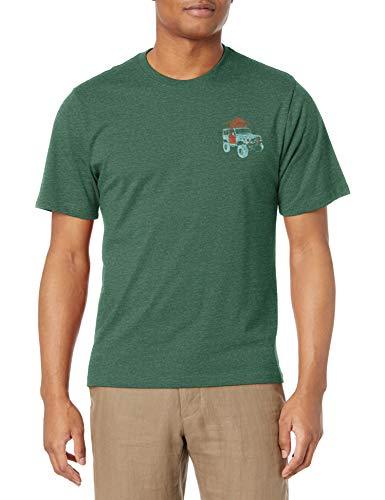 G.H. Bass & Co. Men's Short Sleeve Graphic Print T-Shirt, Jungle Green Heather, Large
