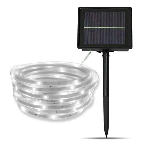 Lumière de Jardin Solaire,SUAVER 16.4ft LED Strip Light Etanche Flexible Ruban LED SMD2835 100LED Cordes Éclairage décorative light Christmas