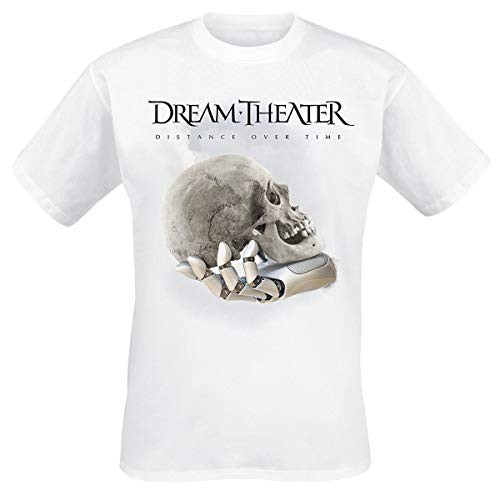Dream Theater Distance Over Time Album Cover Männer T-Shirt weiß XL 100% Baumwolle Band-Merch, Bands