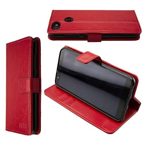 caseroxx Tasche für Gigaset GS280 Bookstyle-Case in rot Hülle Buch