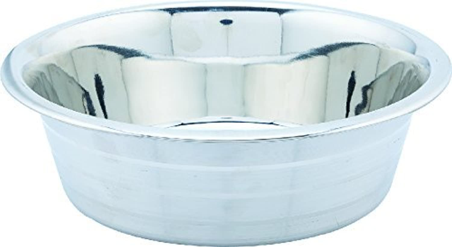 Indipets Silver Touch Collection. Silver Stripe Stainless Steel Dog Bowl. 5 Quarts