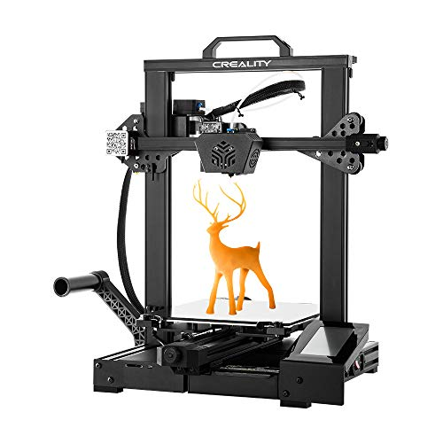 Creality CR-6 SE 3D Printer Leveling-Free with Silent Motherboard, Meanwell Power Supply, Touch Screen,Tempered Glass Plate and Dual Z-axis Print Size 235x235x250mm