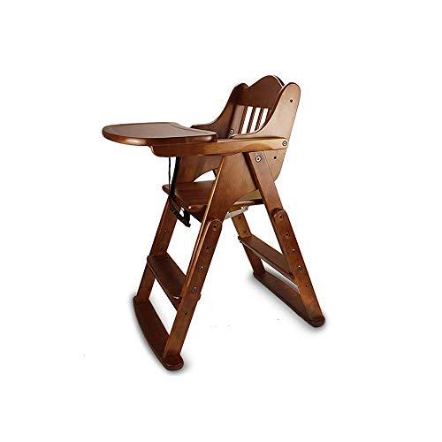 CHHD Baby-Hochstuhl Multifunktions-Klappsitz aus Massivholz Esstisch Baby-Hochstuhl für Kinder House Dining für Kinder mit Sitzkissen