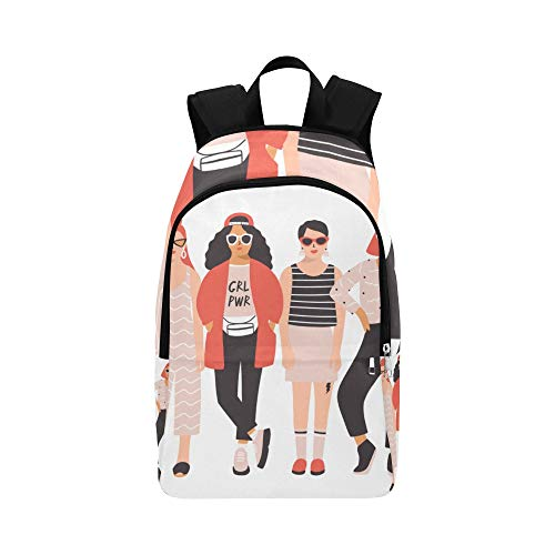 WJJSXKA Hiking Bag for Babies Young Ladies Girls Best Friend Forever Durable Water Resistant Classic Womens Travel Toiletry Bag Canvas Daypack Vintage College Bag Hiking Bag Men