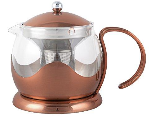La Cafetière Creative Tops Théière en cuivre et Verre, 1200 ML, cuivré, 4 Cup