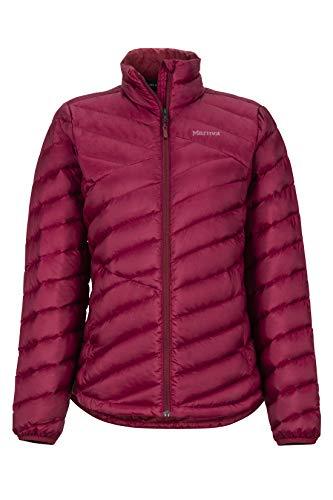 Marmot Wm's Highlander Jacket Chaqueta De Plumas Aislante Ligera, 700 Pulgadas Cúbicas, Chaqueta para Exteriores, Anorak Resistente Al Agua, Resistente Al Viento, Mujer, Claret, XL