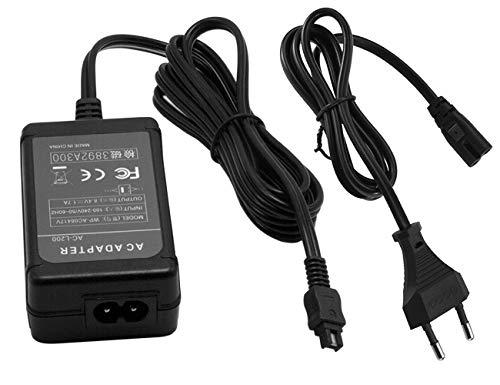Kamera Netzteil AC Adapter ersetzt AC-L20, AC-L20A, AC-L20B, AC-L25, AC-L25A, AC-L25B, AC-L200 passend für Sony Handycam DCR-SX40 DCR-SX41 DCR-SX44 DCR-SX45 DCR-SX60 DCR-SX63 DCR-SX65