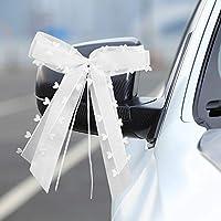 【Beaux nœuds décoratifs】:Ces nœuds blancs sont oniriques et beaux, et lorsque vous les connectez à votre voiture, à votre pièce ou même à votre main, ils ont l'air simples et élégants. Chaque paquet de 30, l'arc est fait à la main et mesure 20 x 10 c...