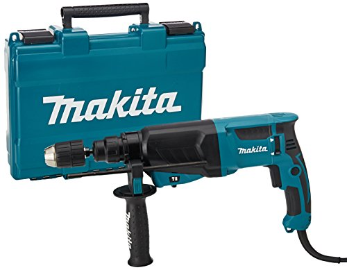 Makita HR2630X7 110 V Rotary Hammer SDS Plus 26 mm including Keyless Chuck and SDS Adaptor in a Carry Case