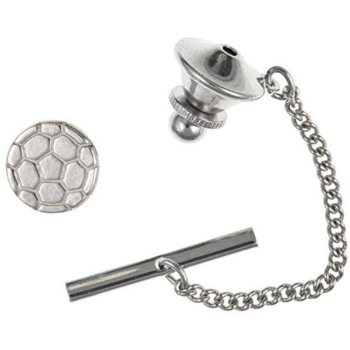 Football Cravate Tack/pin – Argent Sterling 925 – Livré dans une boîte cadeau gratuit ou sac cadeau
