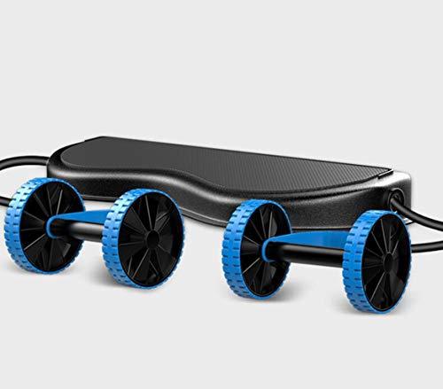Automatische rebound spankabel, fitness buik wiel buikspier wiel, abdominale curl buik dunne arm buik spanband, vrouwelijke huishoudelijke schaatsen fitnessapparatuur (Color : Blue)