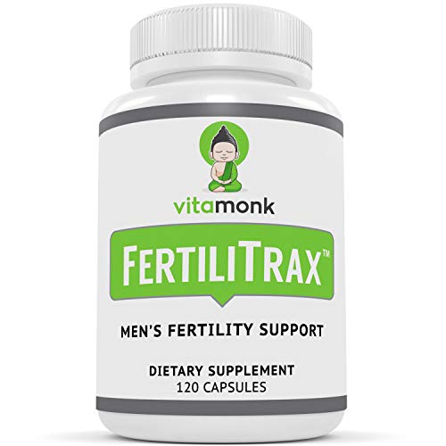 FertiliTrax Men's Fertility Support - Fertility Blend for Men by VitaMonk - Effective Natural Supplements Formula to Aid Healthy Fertility for Males - 120 Capsules - Natural Supplement
