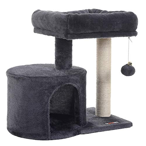 FEANDREA Cat Tree with Sisal-Covered Scratching Posts for Kitten UPCT50G