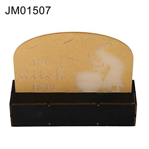 EDQZ Acryl Halloween LED Nachtlicht K¨¹rbis Fledermaus Hexe Nachttischlampe Tischdekoration - JM01507