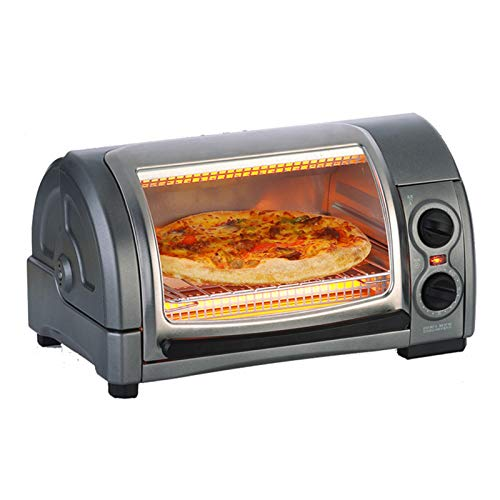 Oven Built-in Electric Double Oven & timer Mini Oven with Adjustable Temperature Control 1300 W