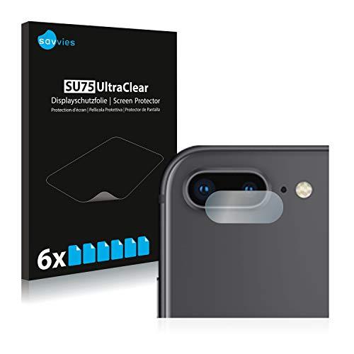 savvies 6-Pezzi Pellicola Protettiva Compatibile con Apple iPhone 8 Plus (Camera) Protezione Schermo Trasparente