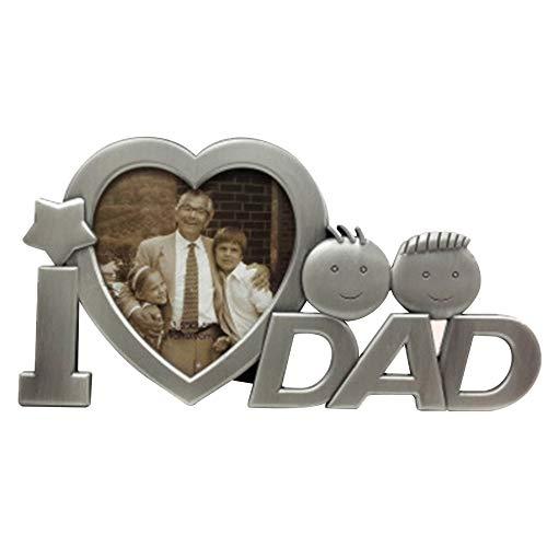 AeasyG Amo el Marco de la Foto del papá para los Regalos del día de Padres, decoración del Escritorio Regalos del día de Padres para el Marco de la Foto de papá