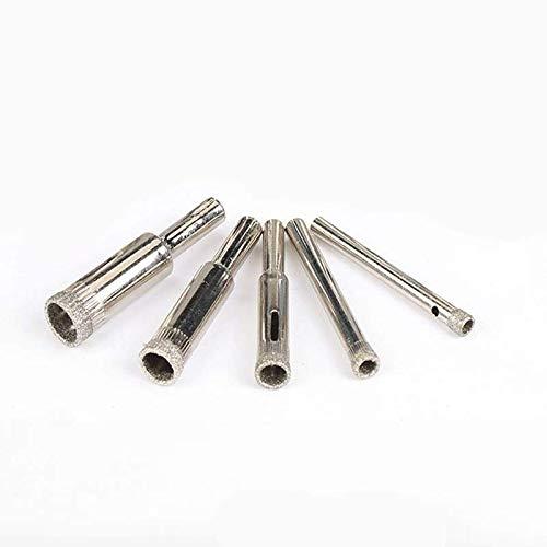 Ruoyu-EU - Abreagujeros de vidrio, abalorios, herramienta de molienda y redondeo, broca de diamante, baldosas de cerámica, mármol de cerámica, perforador de escariado (6-14 mm, 5 unidades)