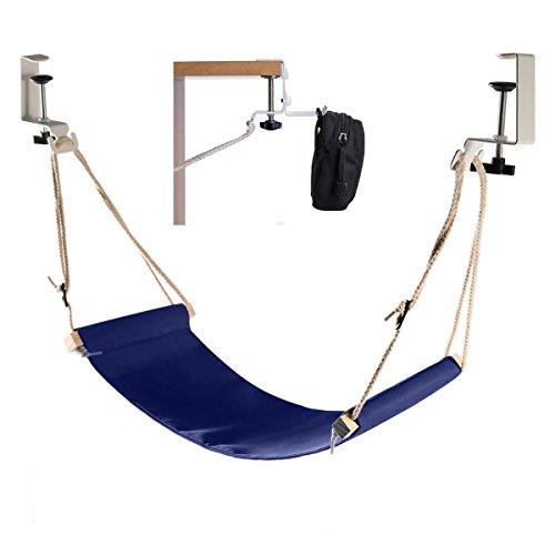 Elelink Portable Adjustable Mini Office Foot Rest/Foot Stool Stand Desk Foot Hammock with Headphones...