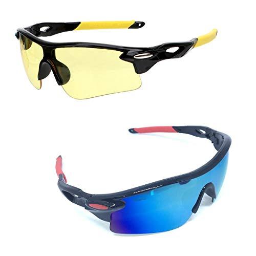 Kit 2 Óculos Bike Speed Ciclismo Esportivo Uv 400 + Noturno