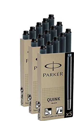 15 Parker Patronen Z44 schwarz (3 Packungen)