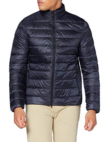 Geox Mens M DERECK Quilted Jacket, Blue Nights, 52 (Herstellergröße:58)