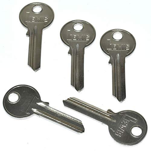 Pack of 5 x Keys Uncut Blank - Cylinder Lock Locks - Doors Door Security...