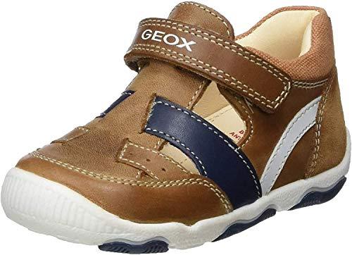 Geox Baby Jungen B New Balu' Boy B Klettschuhe, Beige (Caramel C5102), 18 EU