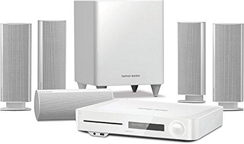 Harman Kardon BDS 335 Heimkino-System 2.1-Kanal, 200 Watt, 4K 3D Blu-Ray Disc-System mit WLAN und Bluetooth-Technologie - Schwarz