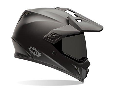 Bell Solid Men's MX-9 Adventure Dirt Bike Motorcycle Helmet - Matte Black/X-Small