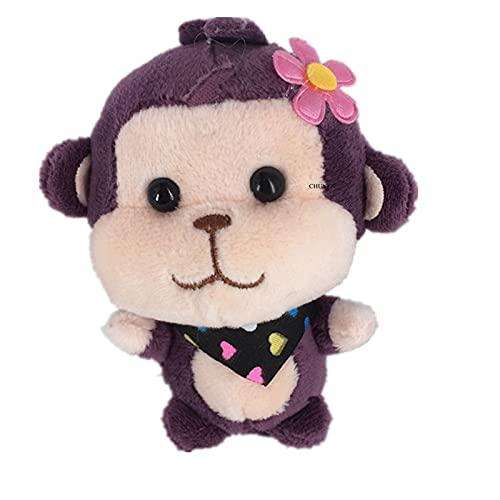 Little Dulce Monkey Relleno Llavero Llavero Juguetes de Peluche, títere del niño