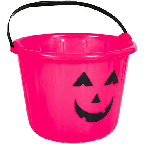 Plastic Pumpkin Bucket - Pink | 24 Ct.
