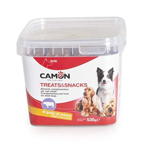 Camon Treats & Snack Biscotti Rolls per Cani al Manzo Snack per Canin al Gusto di Manzo 530g