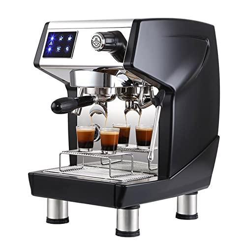 WSJTT Półautomatyczna ekspres do kawy,z mleka parowego FRITE i podwójna pompa wodna Ekspres do kawy,dla espresso,cappuccino i latte macchiato (Color : Red)