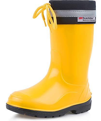 Botas de agua amarillas para niños