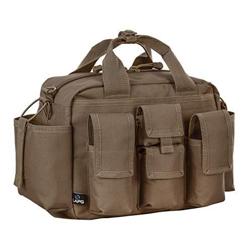 LA Police Gear Tactical Nylon Bail Out Gear Range Bag-Coyote