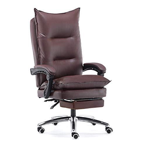 Renovation House Chair Executive Drehstuhl mit Fußstütze Reclining Executive Ergonomischer Büro-Schreibtischstuhl mit hoher Rückenlehne Leder-Schreibtisch Gaming-Stuhl Tragfähigkeit: 330 Lbs Schwarz