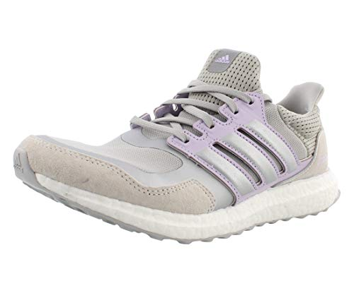 adidas Ultraboost DNA Casual Womens Shoes Size 9, Color: Grey Two/Silver Metallic/Purple Tint