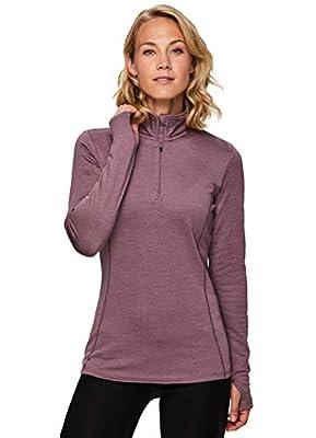 RBX Active Women's Fleece Lined 1/4 Pullover Running Shirt