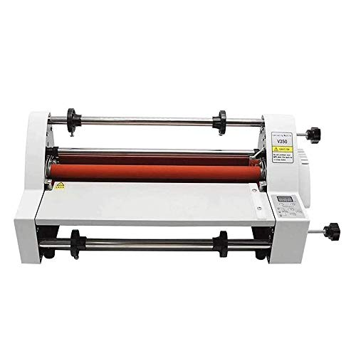 QIN Electronic Temperature Control of Laminating Machine, Laminating Machine A3+, Cold Lamination Hot Lamination Single and Double Sided Lamination, 35cm Hot Laminator,Suitable for Office Documents/Ph