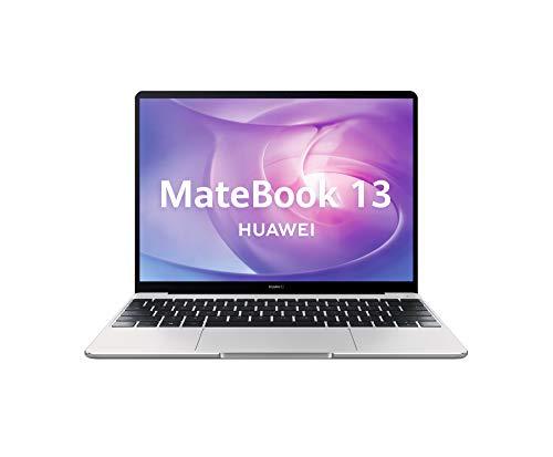 "Huawei Matebook 13 - Ordenador portátil Ultrafino táctil 13"" 2K (Intel Core i5-8250U, 8GB RAM, 512GB SSD, Nvidia GeForce MX250, Windows 10 Home) Mystic Silver - Teclado QWERTY Español, Plateado"