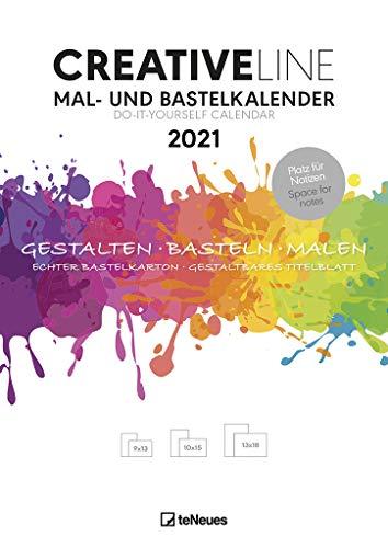 Mal- und Bastelkalender 2021 - Kreativ-Kalender - DIY-Kalender - Kalender-zum-basteln - 21x29,7 - mit Platz für Notizen