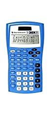 Blue Texas Instruments calculator is a two-line scientific calculator Shows entry and result Recall and edit previous entries Dual powered with statistics, fractions and protective cover Color: Blue